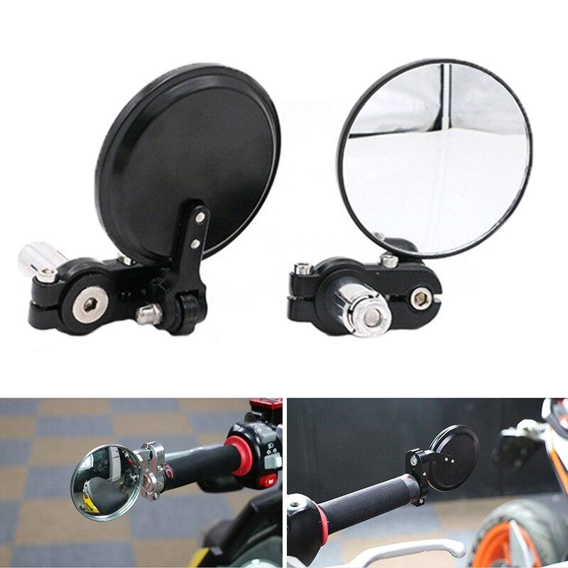 Guiador Ajustável Espelho Convexo Ciclismo Universal Rear View Rotate Ampla Gama Retrovisor de Bicicleta MTB Estrada Bisiklet PA0110 Ayna