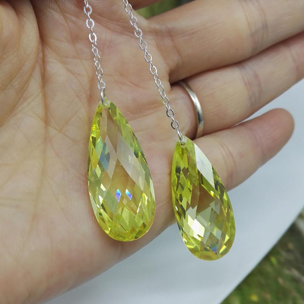 Fashion Jewelry Waterdrop Rhinestone Long Chain Dangle Hook Linear Earrings