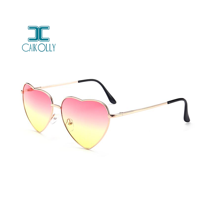 a7ddd5c0d7 2018 Heart Shaped Sunglasses Women Pink Frame Metal Reflective Mirror Lens  Fashion Luxury Sun Glasses Brand