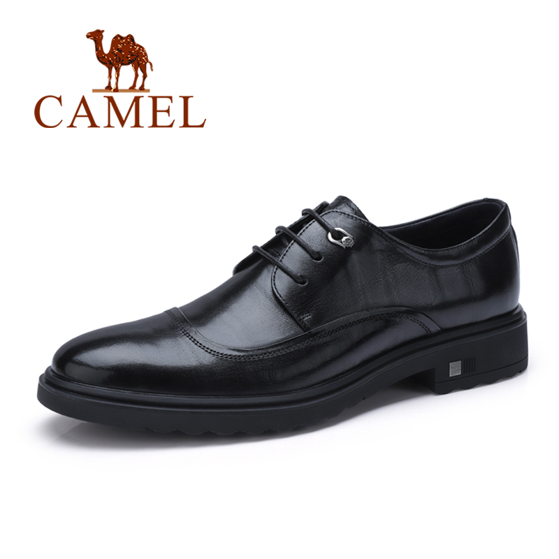 CAMEL Men Dress Shoes Autumn New Man Genuine Leather Shoes Business Formal England Trend Natural Leather Male Derby Footwear 2015 new spring and autumn full for grain embossed leather england men s solid fashion business dress wedding derby shoes flats