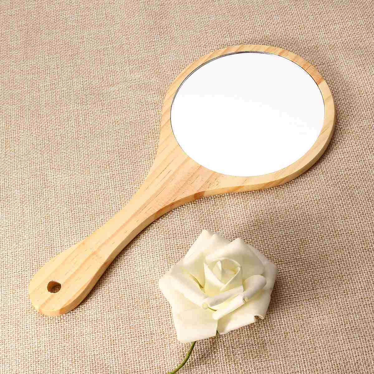 wooden mirror