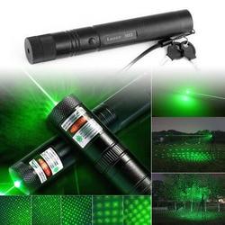 303 مصباح يدوي ليزر 500 m إلى 10000 m 532nm شنقا الأخضر مؤشر ليزر القلم مرئية شعاع ضوء جودة عالية