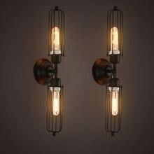 Loft Vintage Wall Lamps American Industrial Edison Lightis Bulb E27 E26 Holder Bedside wandlamp bedroom light