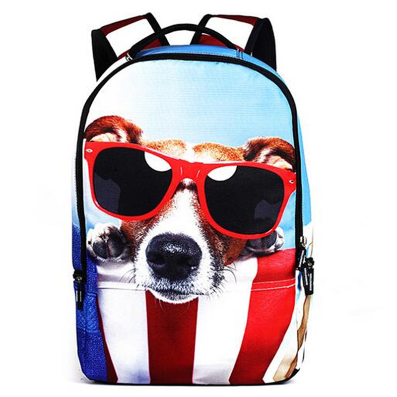 Newest Sport Bags Children School Bags for Teenager Girls Cute Cat Dog Schoolbags Kids Cartoon Animal Backpack Outdoor Bag primary children cartoon mickey school bags 2016 kids cartoon backpack waterproof schoolbags satchel for boys and girls