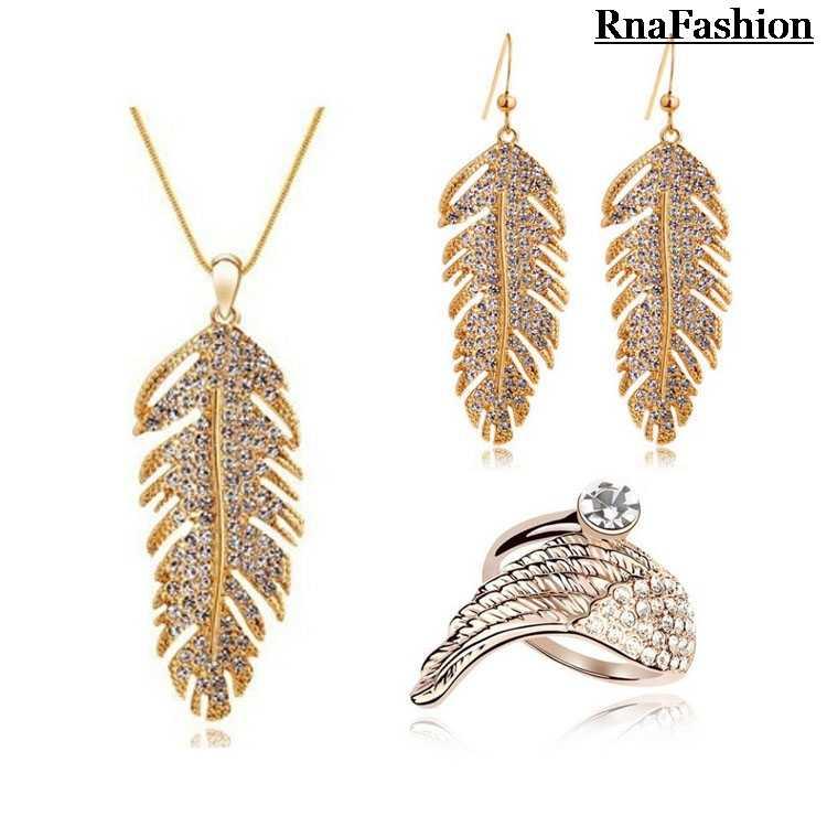 2015 neue Ankunft Halskette Ohrringe Ring Set Luxus KC Gelbe Farbe Afrikanische Kristall Schmuck-Set Für Frauen Verlobungsfeier Geschenke