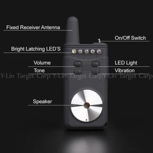 Image 2 - 1 + 4 Brand New Carp alarm zgryzowy wodoodporna wędkarska elektroniczna ryba Strike Rod Tip lampka ostrzegawcza Bell Wireless Receive