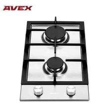 Встраиваемая газовая варочная поверхность из нержавеющей стали AVEX HS 3022 X, автоматический электро-розжиг, газ-контроль, чугунные решетки