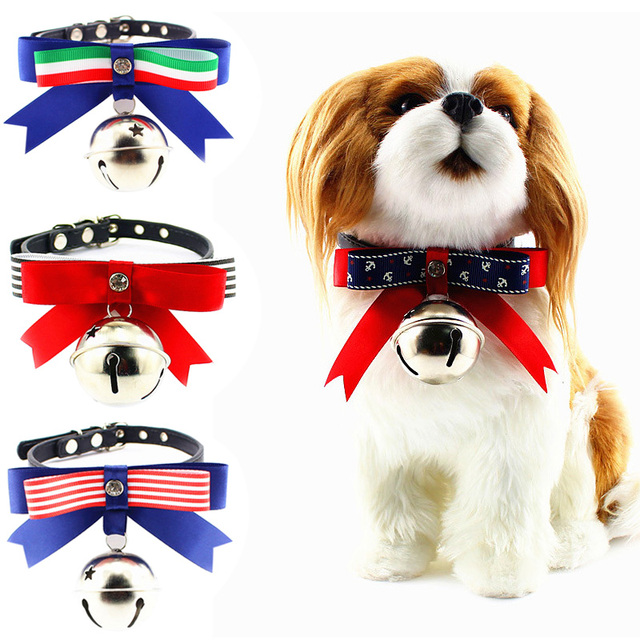 Popular Dog Collar Bow Adorable Dog - Cute-Leather-Satin-Bowknot-Collar-Bow-Tie-with-Big-Bell-0331-for-Cats-or-Dogs-Personalized  Graphic_924024  .jpg