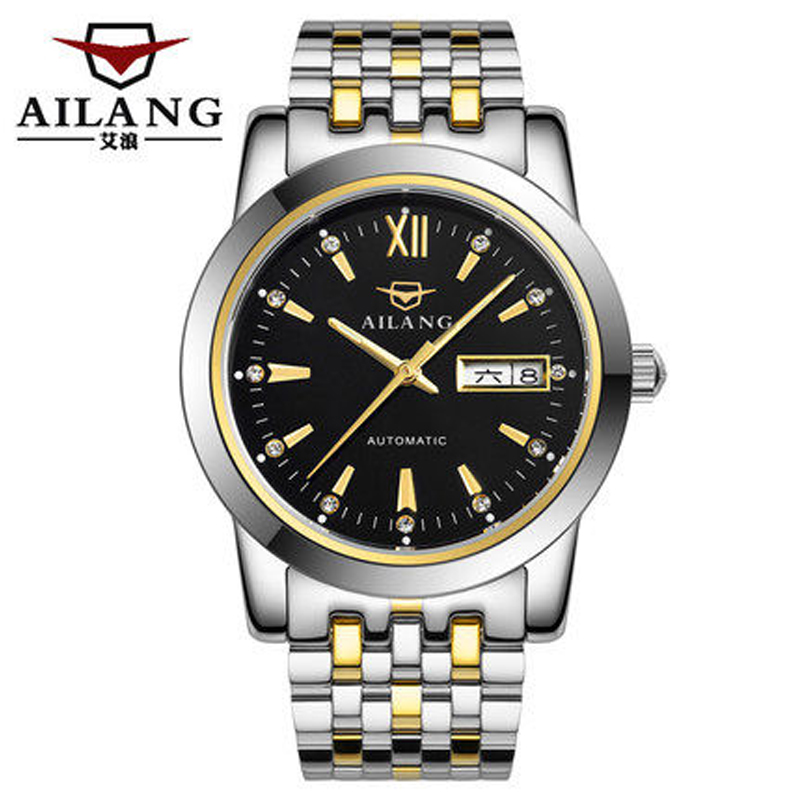 AILANG Mens Watches Top Brand Luxury Full Steel Automatic Mechanical Men Watch Classic Male Clocks High Quality Watch vinoce mens watches top brand luxury high quality full steel quartz watch classic men fashion male clocks relogios masculino