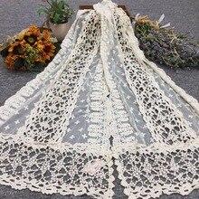 2018 Nový jarní letní šátek dutý krajkový módní teplý nový šátek bavlněný dámský šátek Oděvní doplňky