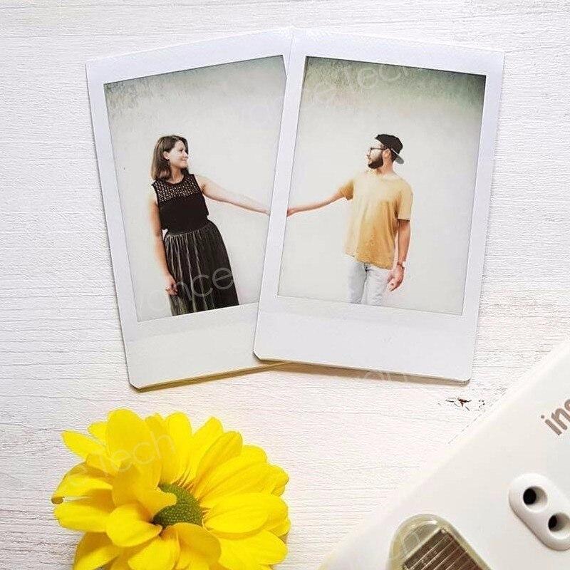 Véritable 50 feuilles blanc bord Fuji Fujifilm Instax Mini 8 Film pour 7 s/9/70/90/25 sp-1 300 caméras instantanées papier Photo - 6
