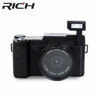 DHL 10 шт./лот p1 Цифровая Камера 1080 P 15fps Full HD 24MP D 3.0 дюйма с Возможностью Поворота ЖК-Экран Видеокамеры Широкоугольный Объектив камеры