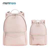 mommore 2 Set Mother Baby Diaper Backpack Fashion Diaper Bag with Toddler Backpack Waterproof Travel Backpack for Mom Kids
