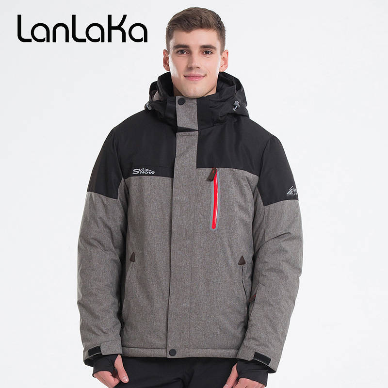 2018 LANLAKA Men Ski Jacket Snowboard Jacket Windproof Waterproof Outdoor Sport Wear Skiing Hiking Thermal Hooded Clothing Coat lurker shark skin soft shell v4 military tactical jacket men waterproof windproof warm coat camouflage hooded camo army clothing