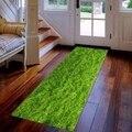 Еще зеленая трава природа цветочные цветы 3d печать Нескользящая микрофибра моющиеся длинные бегущие Коврики для прихожей