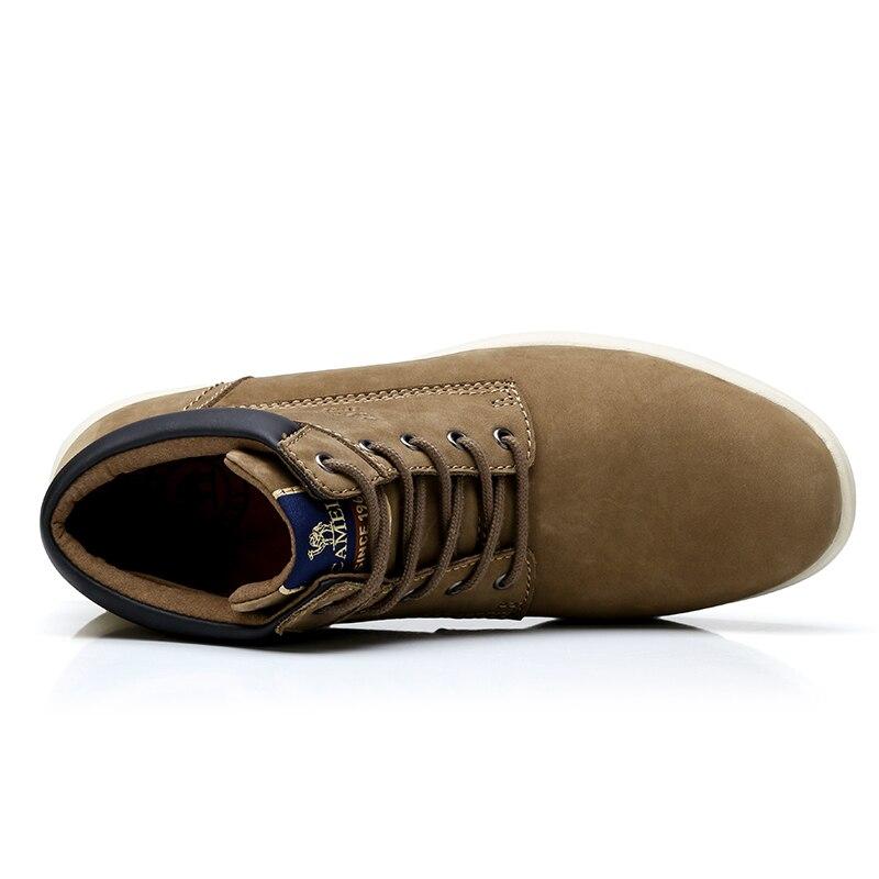 Cammello in casual morbido casual opaco anti scivolo A742329534kaqi da casual caviglia scarpe Scrub versatile uomo con corta pelle vera anti a742329534ellow scivolo IxIrv6q