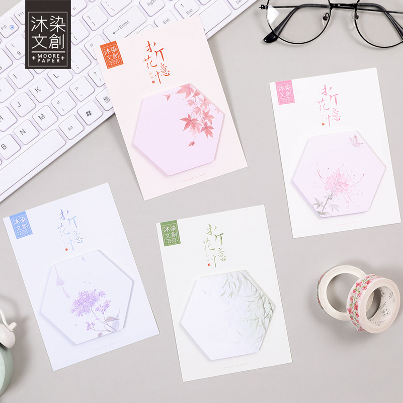 20 sets/1 lot Creative flower Memo Pad Sticky Notes Escolar Papelaria School Supply Bookmark Post it Label