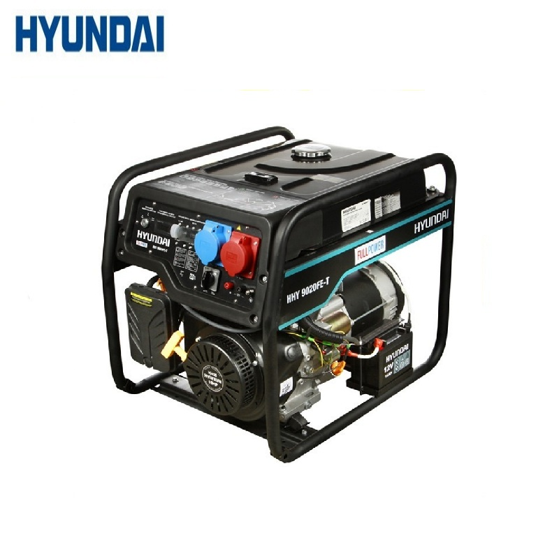 Gasoline generator Hyundai HHY 9020FE-T Power home appliances Backup source during power outages Benzine stations
