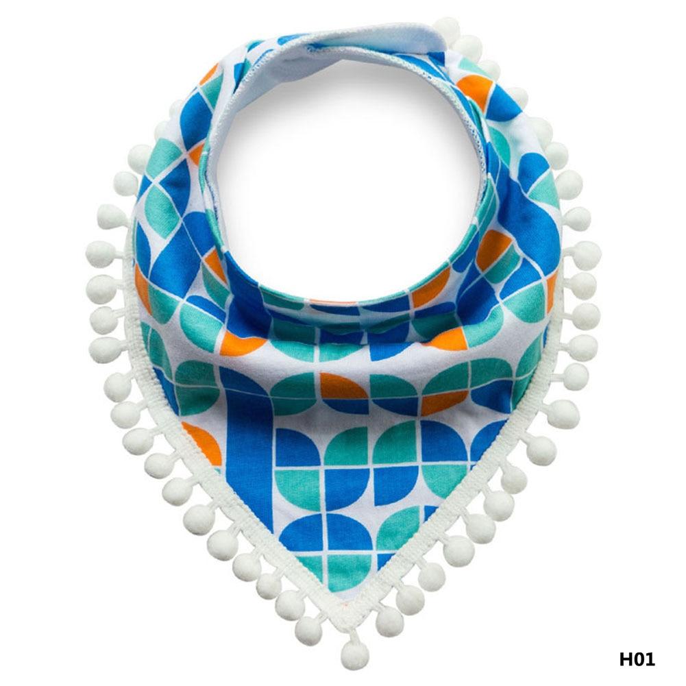 2017new Fashion Triangle Cotton Towel Baby Bib Slobber Double Baby Burp Cloth Dot Saliva Towel Childrens Accessories