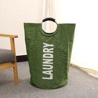 Portable Folding Laundry Basket Plus Size Shopping Bag Laundry Hamper Basket For Toys Clothes Portable Clothing Storage Bag