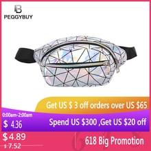 Holographic Women Fanny Pack Belt Bag Shiny Neon Laser Hologram Waist Bags Phone Pouch Girl Waist Shoulder Hip Bum Bag
