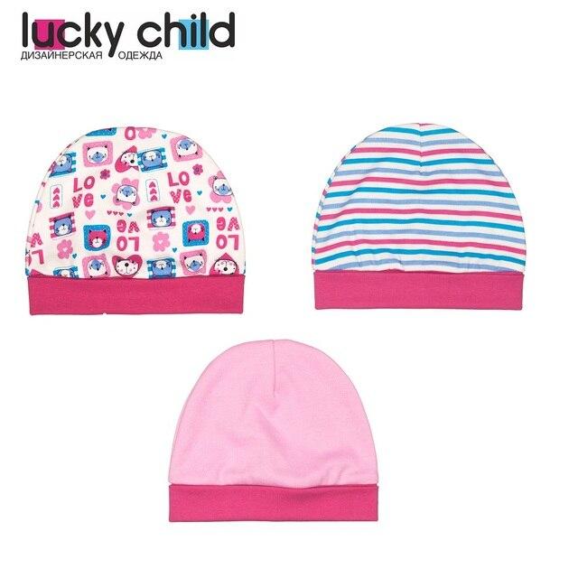 Шапочка Lucky Child для девочек, 1шт, арт. A6-109 (Любовь) [сделано в России, доставка от 2-х дней]