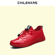 CHILENXAS 2017 Autumn Winter Leather Men Casual Shoes New Fashion Ankle Boots Breathable Height Increasing Lace-up Waterproof