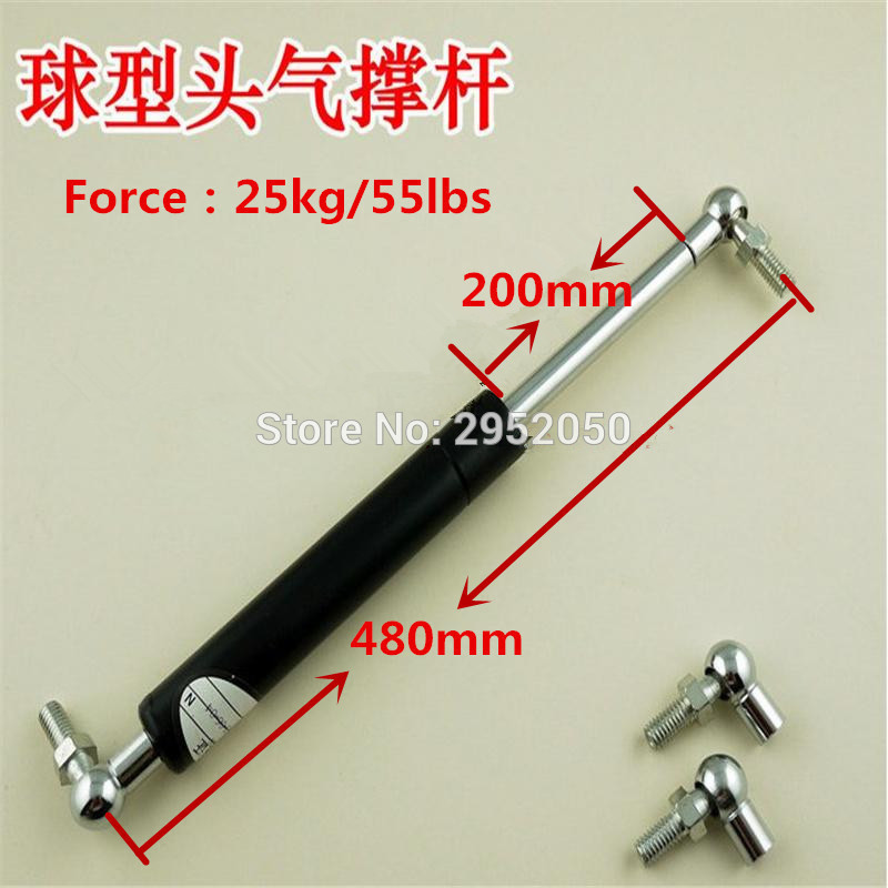 Free shipping gas spring 25kg 55lbs Force 200mm Stroke 8mm Thread Lift Damper Support Car Gas SpringFree shipping gas spring 25kg 55lbs Force 200mm Stroke 8mm Thread Lift Damper Support Car Gas Spring