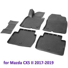 3D коврики в салон для Mazda CX5 2017-2019 5 шт./компл. (конкурент 13803004)