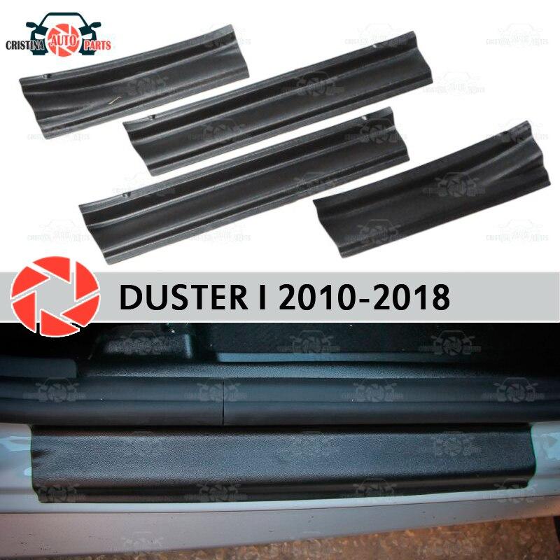 Soleiras de porta para Renault Duster 2010-2018 plástico ABS passo placa interna scuff guarnição acessórios de proteção car styling decoração