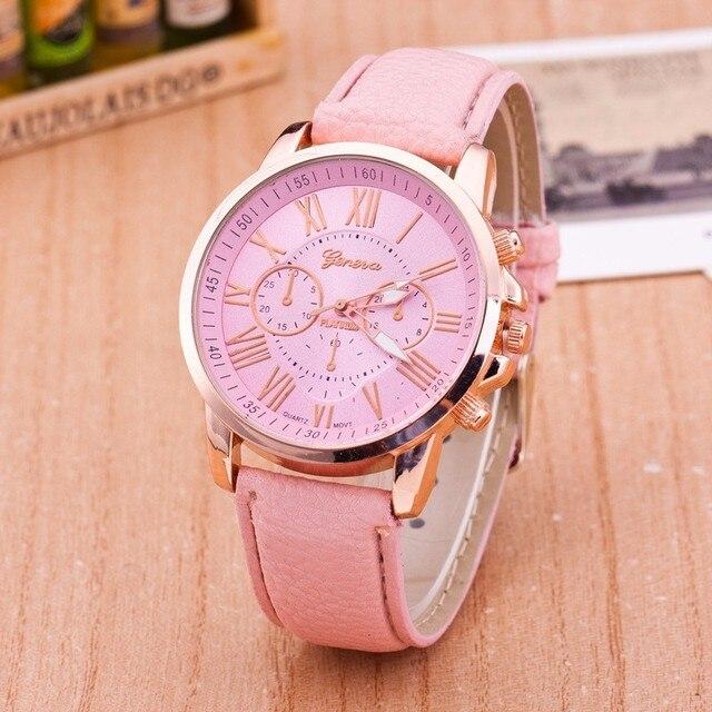 Luxury Brand Leather Quartz Watch Women Men Ladies Fashion Wrist Watch Wristwatches Clock relogio feminino masculino 8A01 4