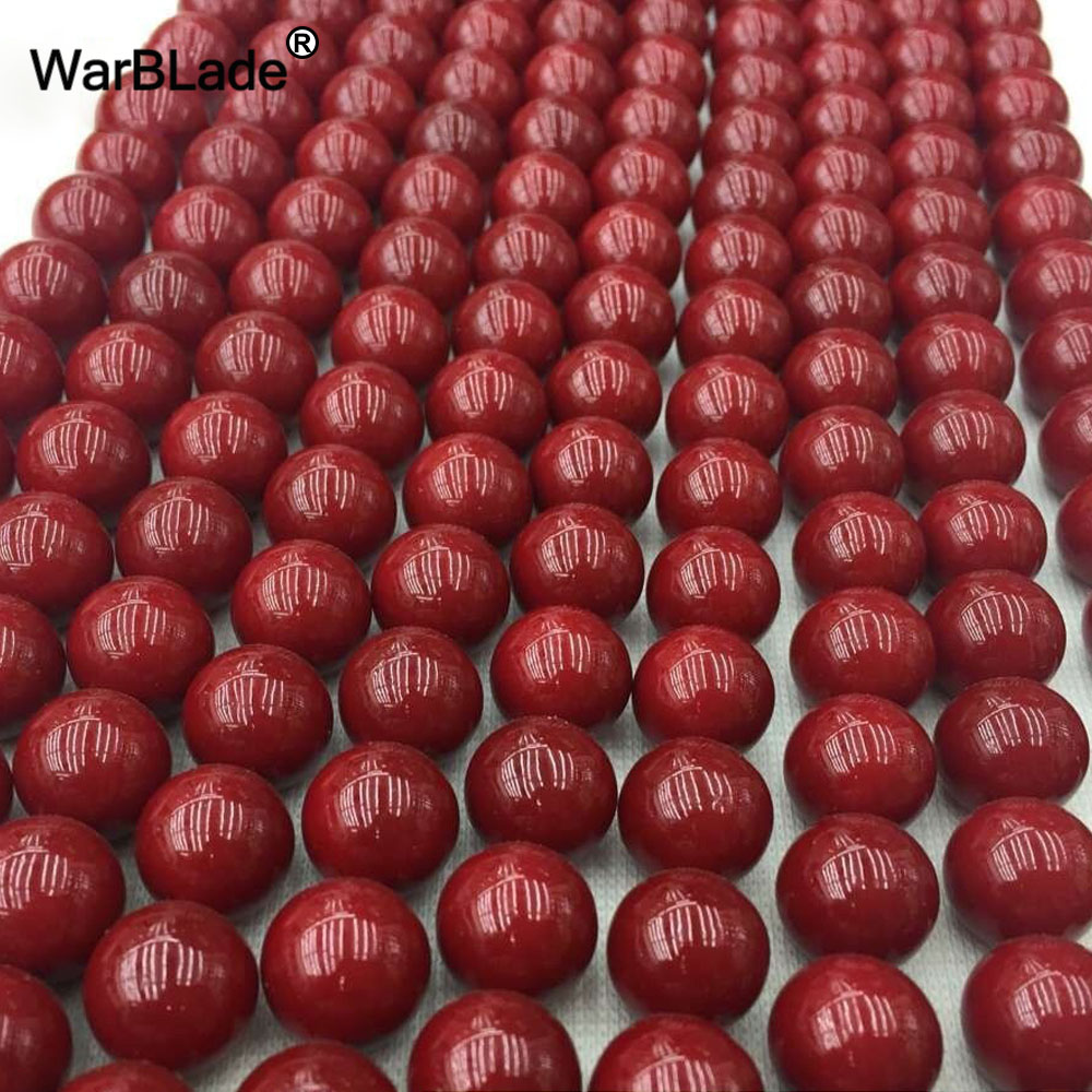 Jewelry & Accessories Wbl High Quality Natural Stone Dark Red Coral Beads Round Loose Beads 4mm 6mm 8mm 10mm For Diy Bracelet Necklace Jewelry Making Ideal Gift For All Occasions