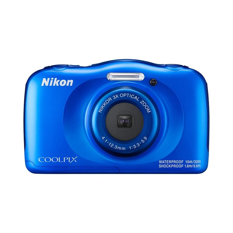 Фото - Point & Shoot Camera Nikon COOLPIX W100 Blue meike fc 100 for nikon canon fc 100 macro ring flash light nikon d7100 d7000 d5200 d5100 d5000 d3200 d310
