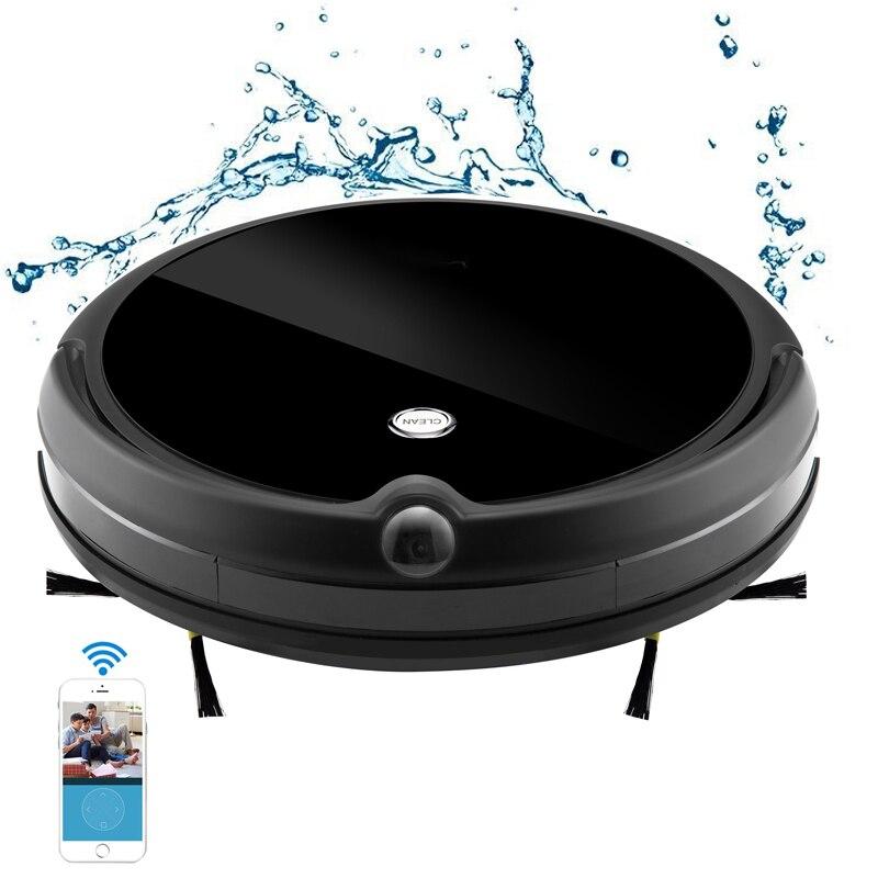 Nouveau A13 robot aspirateur en caméra noire APP chat vidéo nettoyage à sec et humide robot nettoyeur de sol à cclea tapis de sol