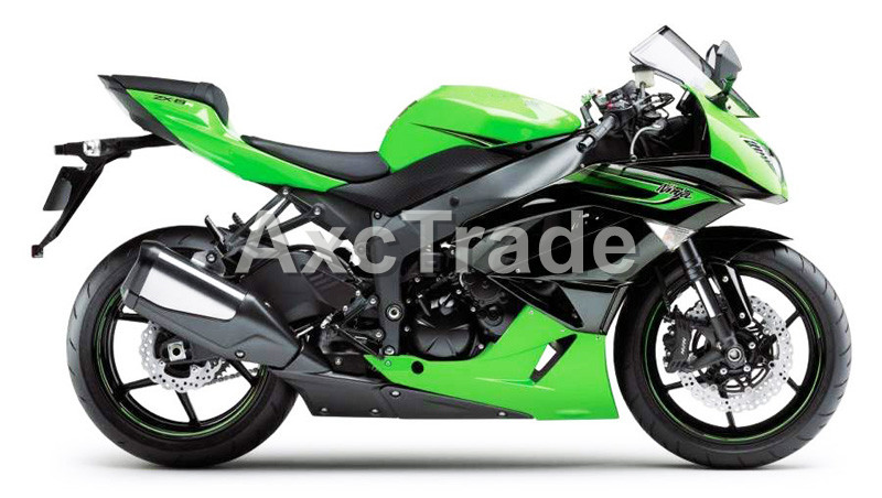 Motorcycle Fairings For Kawasaki Ninja ZX6R 636 ZX-6R 2009 2010 2011 2012 09-12 ABS Plastic Injection Fairing Bodywork Kit Green plastic fairings for kawasaki zx6r 2011 body kits 636 zx 6r 2010 2009 2012 white black bodywork zx6r 09 10