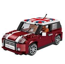 לוז 1111 מיני סלון רכב DIY אבני בניין בורא מרוצי מכוניות לבני הרכבה חינוכיים צעצועים לילדים מתנת יום הולדת