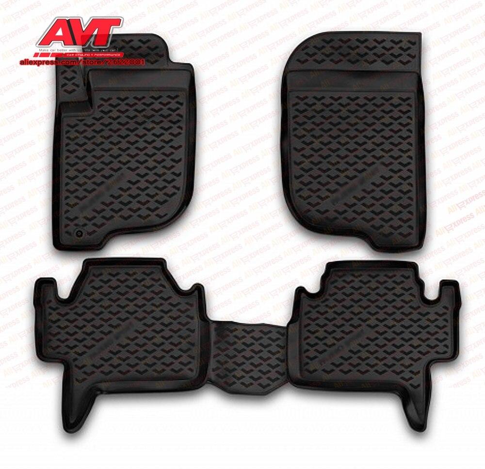 Коврики для Mitsubishi Pajero Sport 2008 2012 4 шт. резиновые коврики Нескользящие резиновые аксессуары для салона автомобиля|Хромирование|   | АлиЭкспресс