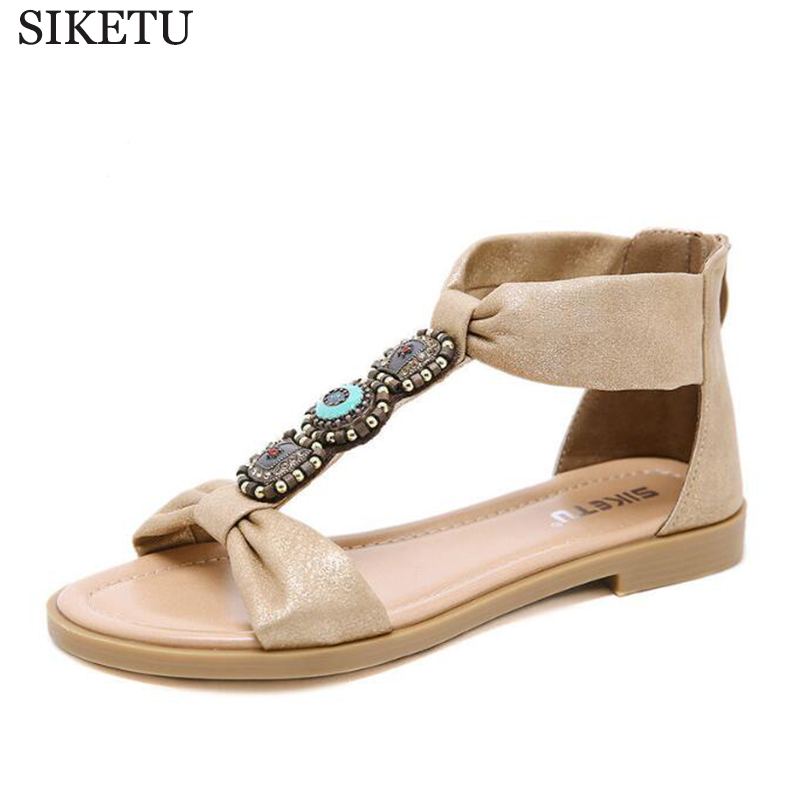 2c58dc212c18f US $19.62 45% OFF|2019 new Simple sandals boho style women's shoes retro  flat shoes women's large size comfortable fashion Roman shoes c394-in Low  ...