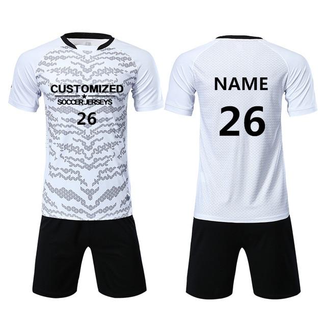 471a23967 Adult Soccer Jerseys Sets Men Blank Uniforms Sports Kit Tracksuit Football  Jerseys Shirts Shorts Custom Pint Name Number Logo
