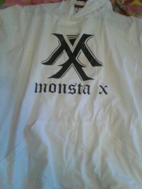 Kpop Korean Hip Hop Monsta X I.M Wonho Minhyuk Cotton Thin Three Quarter Hoodies Pullovers Hoode Sweatshirts Fans Clothes photo review