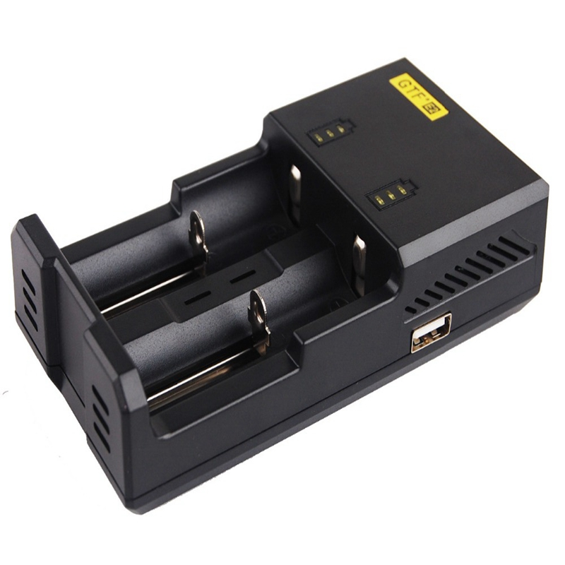 Gtf Rechargeable Battery Charger E2 For 16340 10440 Aa Aaa 14500 18650 26650 Battery Charger Headlamp Headlight Battery Charger