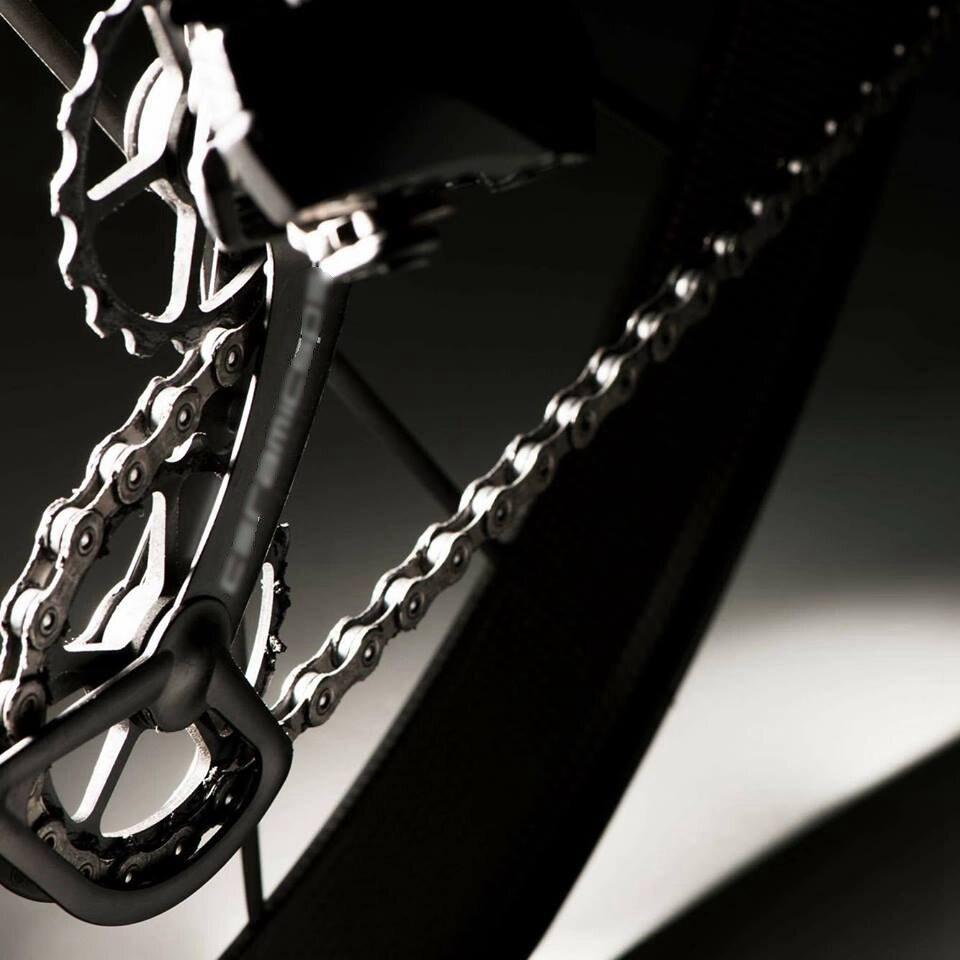 Racework En Fiber De Carbone Vélo Arrière Dérailleur Poulies En Céramique Roulements Roue Jockey Ensemble pour Shimano RD6700 6800 6870 9000 9070