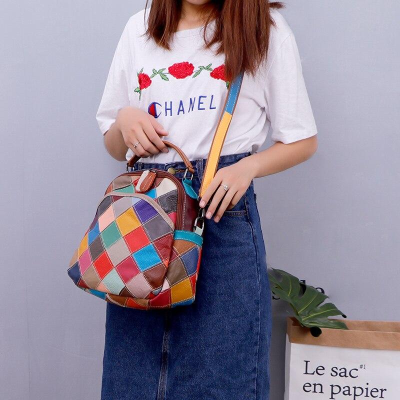 Femmes La Style Nouveau Dolove Épaule Cuir Sac À En De Véritable Color Épissage Main Messager Oblique Sac Mode Unique Durée 5wtXpqRp