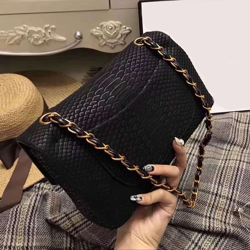 Luxury crocodile Women Shoulder Bags Chains Fashion Handbags Brand Designer Real Leather Messenger Bags Crossbody Bag