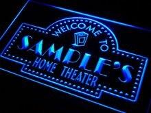 Ph-ТМ Имя персонализированные пользовательские домашний кинотеатр Бар неоновая вывеска с на/выключения 7 цветов 4 размера
