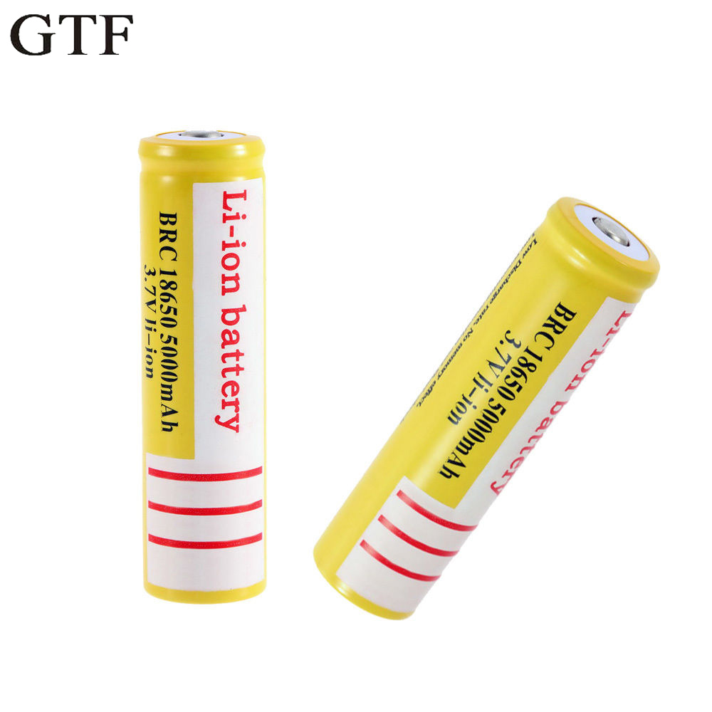 Consumer Electronics 4pcs 18650 Battery 5000mah 3.7v Rechargeable Cell For Torch Mini Fan Gamepad For Laser Pen Led Flash Light Cell Battery Holder Batteries