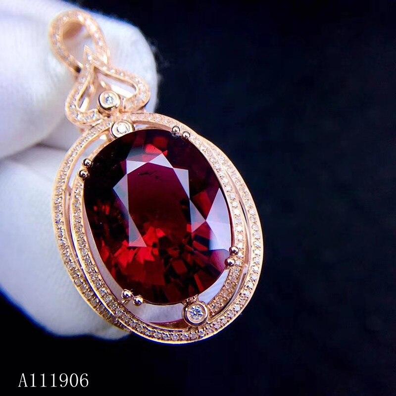 KJJEAXCMY bijoux fins 925 argent sterling incrusté naturel grenat pierre précieuse femme pendentif pour envoyer collier soutien test luxe