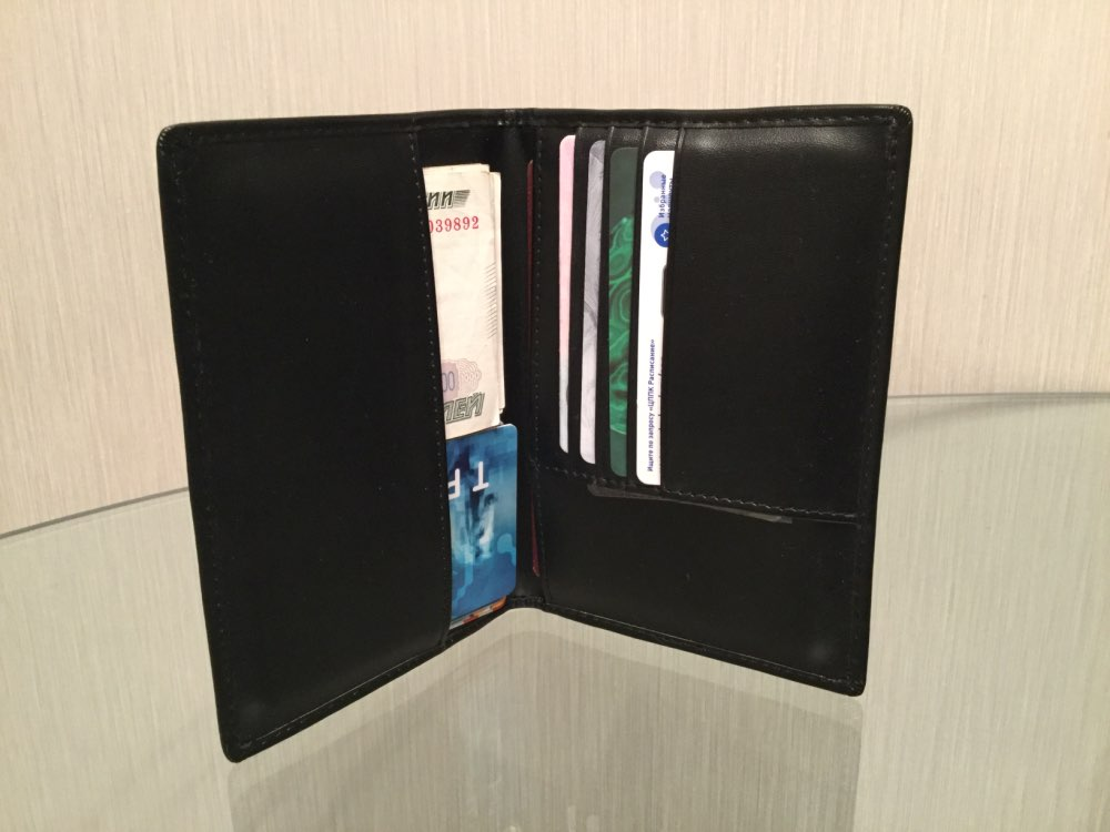 VM FASHION KISS RFID Safe Passport Wallet Card Holder Pures Black Genuine Leather Travel Accessories Tickets Document Cover Case photo review
