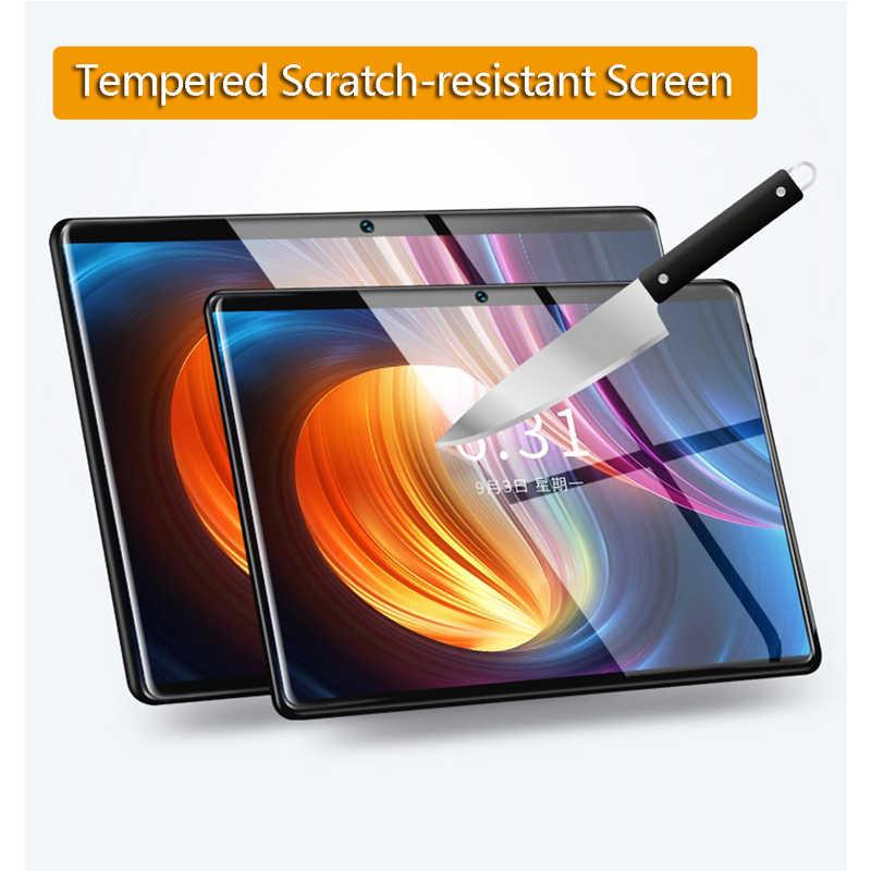 Argent 2.5D IPS tablette PC 3G Android 9.0 Octa Core Google jouer les tablettes 6GB RAM 64GB ROM WiFi GPS 10 'multi-écran tactile pcs