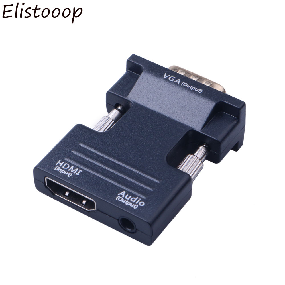Raspberry Pi Projector Black PC Roku Laptop Chromebook Monitor HDTV HDMI to VGA with Audio Adapter,AMANKA HDMI to VGA Adapter Male to Female Xbox and More for Computer Desktop